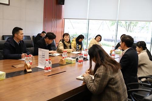 湖南省外侨办一行就外事工作事宜调研三诺生物