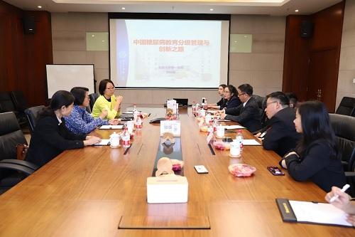 中华医学会糖尿病学分会青年委员会副主委章秋一行到访三诺生物